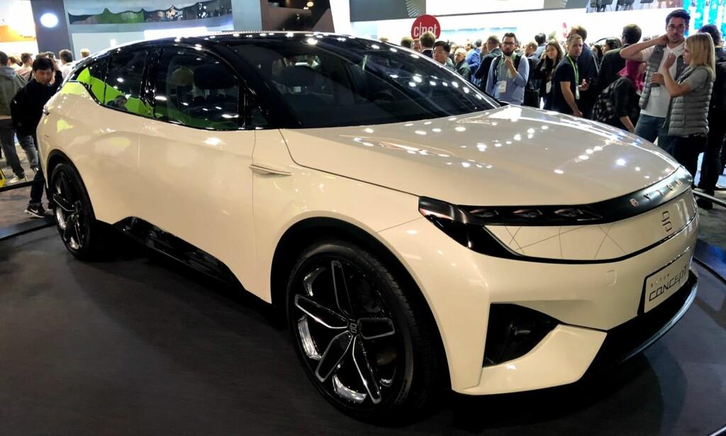 UTFORDRER TESLA: Byton er en spennende elbilprodusent som kommer med denne modellen til neste år. Foto: Bjørn Eirik Loftås