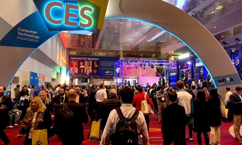 FOLKSOMT: Med 4.000 utstillere og 180.000 besøkende, er CES verdens største teknologimesse. Foto: Bjørn Eirik Loftås