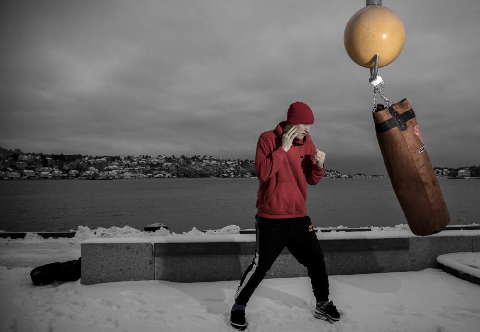 KLAR FOR ARENDAL: Kai Robin Havnaa skal bokse i sin hjemby 3. februar. Han er stolt over å være hovednavnet. Foto: Tomm W. Christensen / Dagbladet