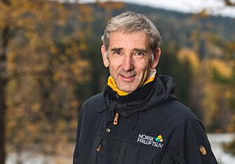 <strong>TA HENSYN:</strong> Lasse Heimdal, generalsekretær i Norsk Friluftsliv, oppfordrer til å vise hensyn - og å ikke ødelegge skiløypene. Foto: Norsk Friluftsliv