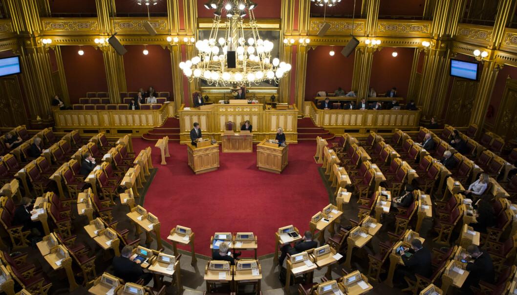 LANDSSVIK: «Å gå i fremmed makts tjeneste uten regjeringens samtykke» er den eneste muligheten til å fjerne stortingsrepresentanter. Foto: Mariam Butt / NTB scanpix