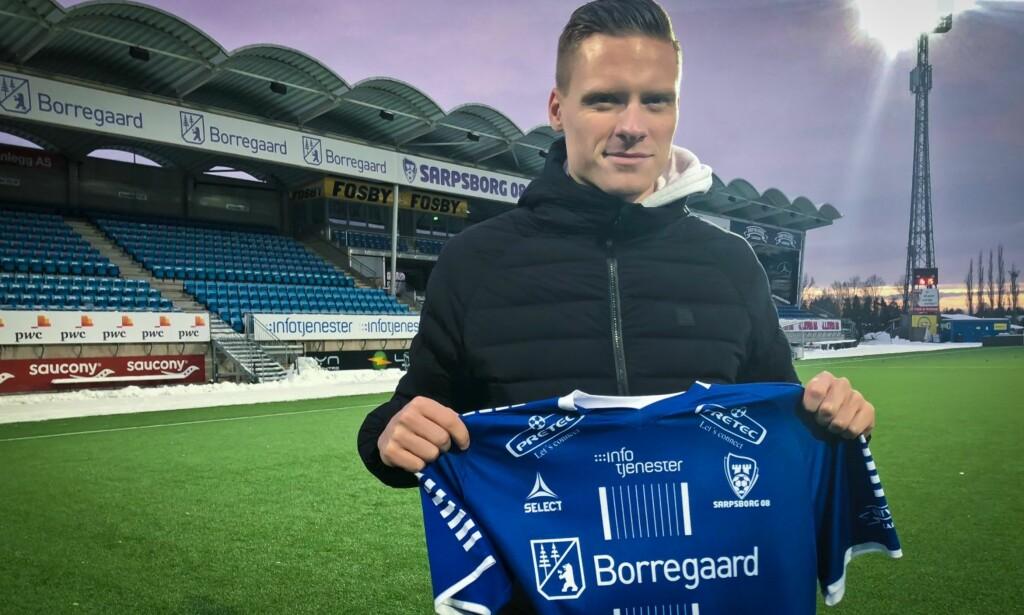 NY STOPPER: Orri Sigurdur Omarsson er Sarpsborgs erstatter for Sigurd Rosted. Foto: Sarpsborg 08