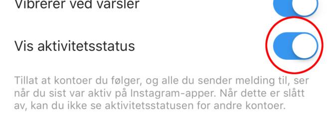 Nå kan Instagram-vennene dine se når du sist var logget på