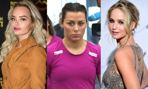 Privat: Sophie Elise, Nora Mørk og Hollywood-stjerna Jennifer Lawrence har alle opplevd private bilder på avveie. Og har snakket ut om det. Alle foto: Scanpix