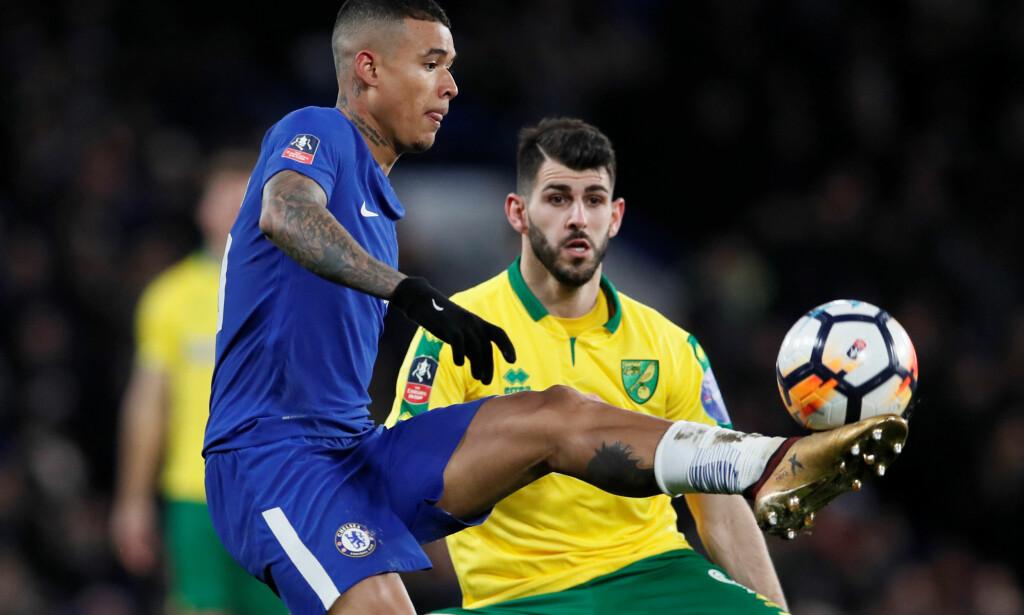 LÅNES UT: Chelseas 21 år gamle brasilianer Kenedy går på lån til Newcastle for resten av sesongen. Foto: REUTERS/David Klein/NTB scanpix