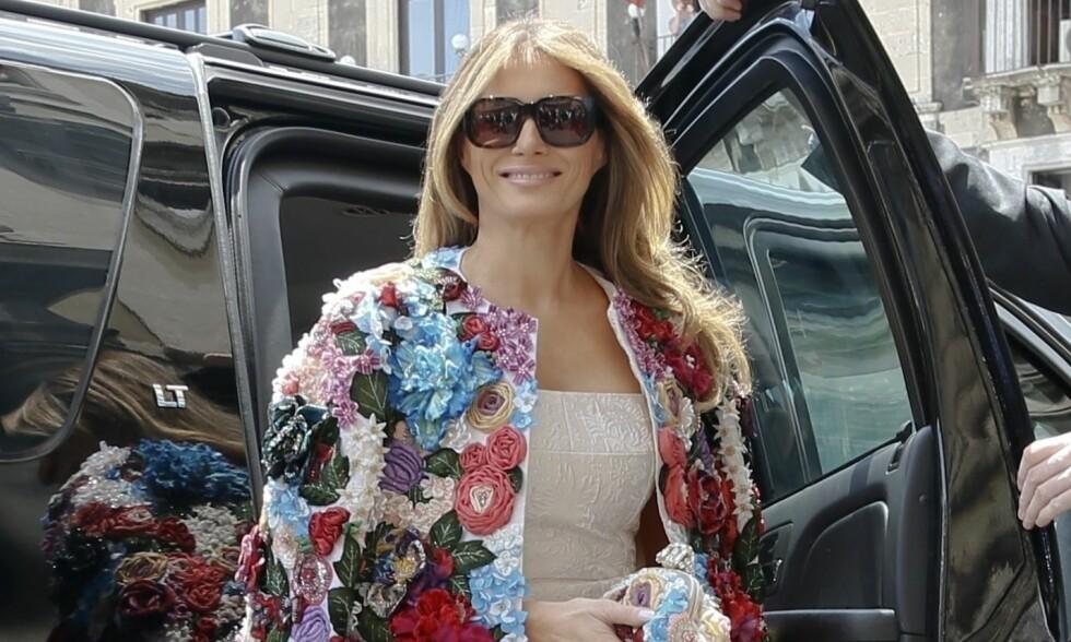 DROPPER DAVOS: USAs førstedame Melania Trump var varslet å dukke opp i Davos denne uka under World Economic Forum sammen med ektemannen, president Donald Trump. Nå blir det ikke noe besøk likevel. Foto: NTB Scanpix