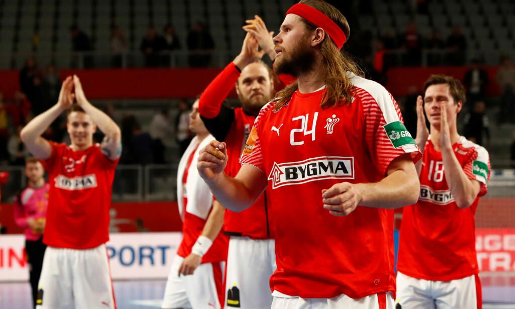 TIL SEMI: Danmark er klare for semifinale i håndball-EM etter at Slovenia slo Spania i kveld. FOTO: REUTERS/Ognen Teofilovski/NTB scanpix