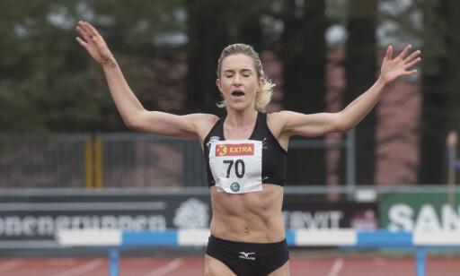SATSER PÅ HINDER: Karoline Bjerkeli Grøvdal, her da hun løp inn til gull på 3 000 meter under friidretts-NM i Sandnes. Foto: Vidar Ruud / NTB scanpix