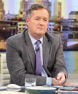 HARDT UT MOT SCARLETT JOHANSSON: TV-verten Piers Morgan er ikke nådig i sin kritikk av Scarlett Johansson, og kaller henne en «skinnhellig hykler». Her fra Tv-showet «Good Morning Britain». Foto: Shutterstock.