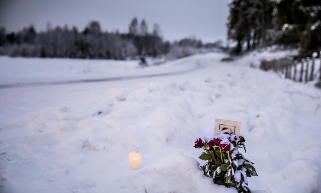 BLOD: Politiet tror siktet fraktet bort snø med Janne Jemtlands blod. Foto: Christian Roth Christensen / Dagbladet