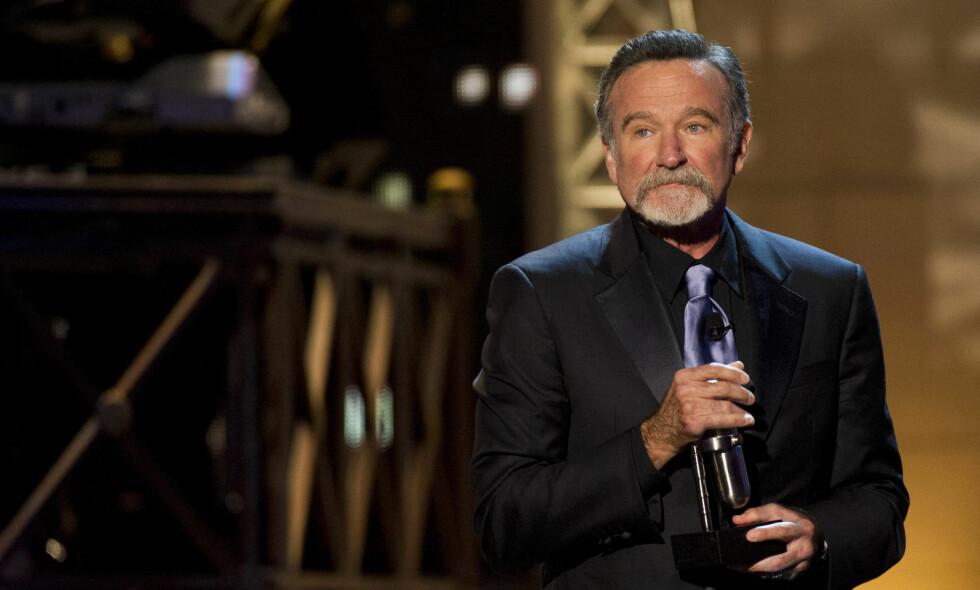TRAGISK BORTGANG: Hollywood-skuespiller Robin Williams (63) gikk bort i 2014. Her fra Comedy Awards i New York for snart seks år siden. Foto: Ap / NTB Scanpix