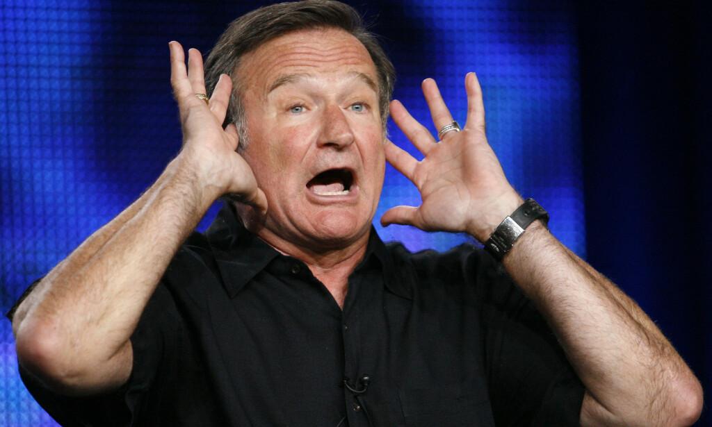FOLKEKJÆR: Ved siden av skuespillerkarrieren var Robin Williams godt kjent for sine enestående improteater-egenskaper og parodier. Foto: NTB Scanpix