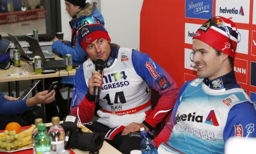 VRAKET: Verken Petter Northug eller Sondre Turvoll Fossli skal gå skirenn i OL, så sant ikke det blir sykdomsforfall som gjør at reserve Fossli kommer inn på sprinten. Foto: Terje Bendiksby / NTB scanpix