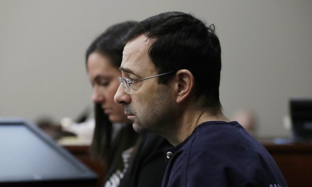 LIVSVARIG FENGSEL: Osteopat og lege Larry Nassar har fått en fengselsstraff på opptil 175 år for seksuelle overgrep.Foto: AP Photo/Carlos Osorio/NTB Scanpix