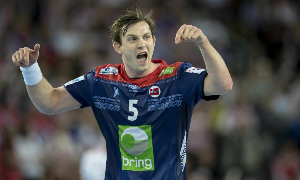 På EMs stjernelag: Sander Sagosen var den eneste norske spilleren som ble tatt ut på EMs stjernelag. Foto: NTB Scanpix