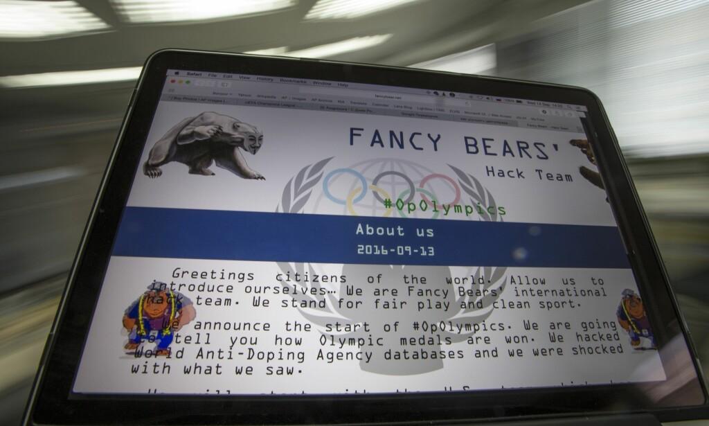 ANGRIPER NORSK SKISPORT: Russiske Fancy Bears har noe forsinket kaset seg inn i astmadebatten i langrenn. E-mailen de legger fram som bevis kan knapt sjokkere noe i skimiljøet. FOTO: AP Photo/Alexander Zemlianichenko,