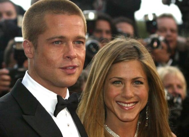VAR GIFT: Brad Pitt og Jennifer Aniston var gift fra 2000 til 2005, og var blant Hollywoods mest omtalte kjendispar. Foto: NTB scanpix
