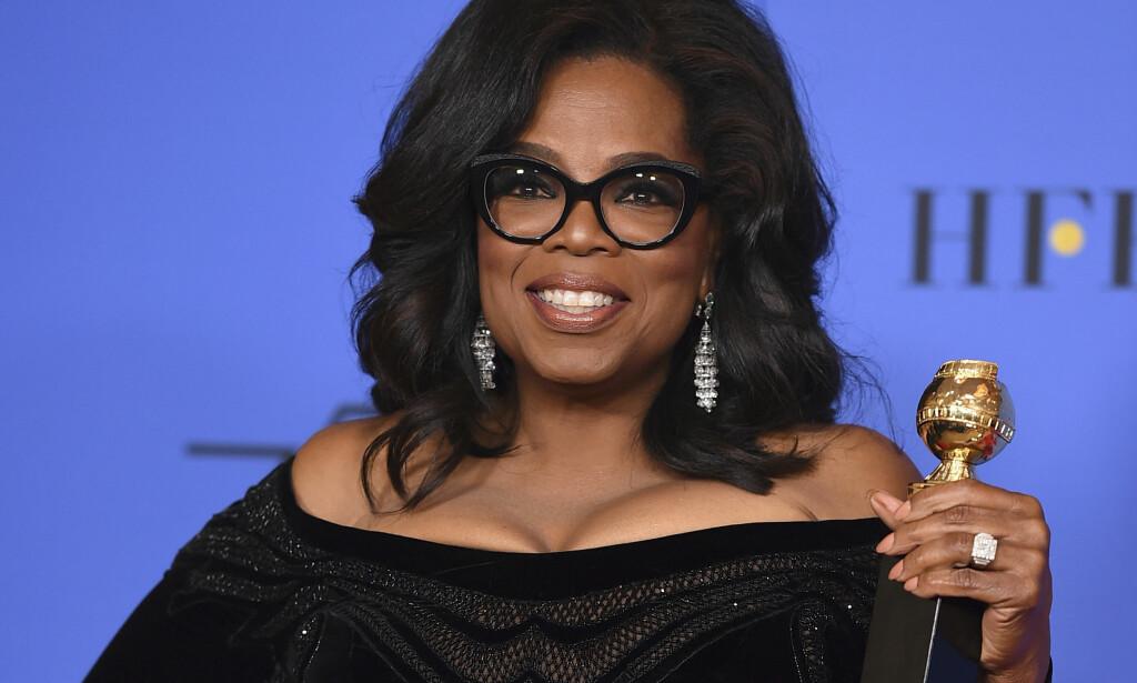 TAKKER NEI: Oprah Winfrey sier i et ferskt intervju at hun likevel ikke ønsker å bli president - for nå. Foto: Scanpix