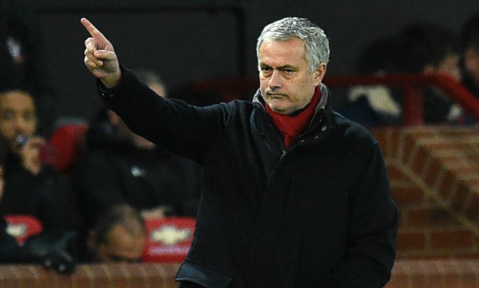 BLIR DET FA-CUP-SUKSESS? José Mourinho og Manchester United er i kvartfinalen der Brighton venter. Foto: AFP PHOTO / Oli SCARFF / NTB Scanpix