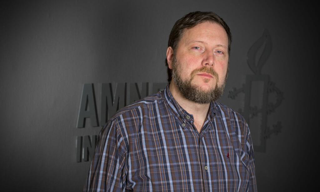 KRITISK: Gerald Kador Folkvord i Amnesty. Foto: Pressefoto