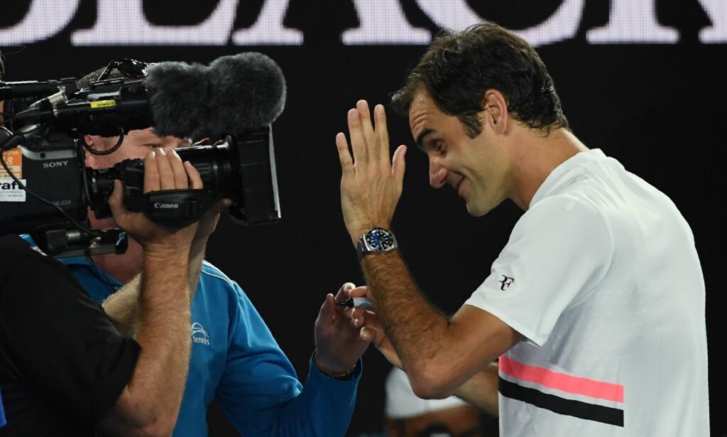 KLAR FOR FINALE: Roger Federer. Foto: AFP PHOTO / WILLIAM WEST