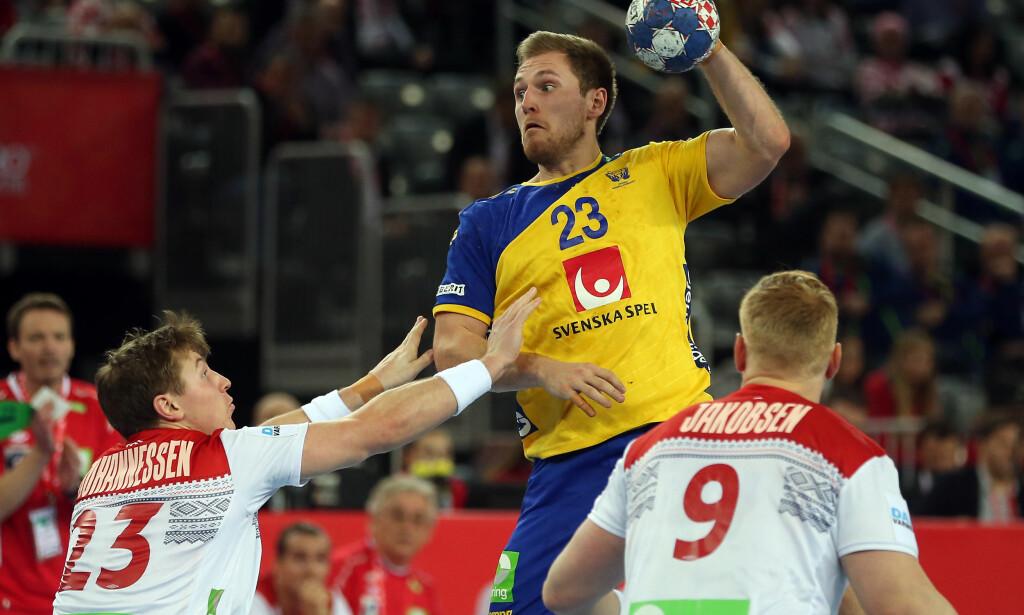 HJERNERYSTELSE: Sveriges toppscorer, Albin Lagergren, spiller ikke semifinalen i EM. Foto: Dalibor Urukalovic/PIXSELL