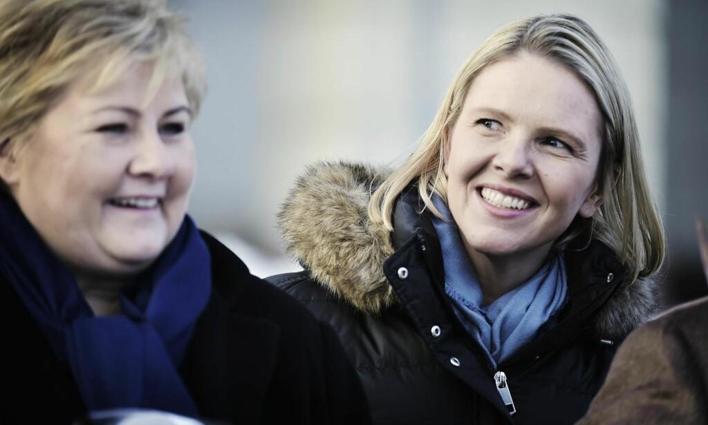 HEIER PÅ SYLVI: Det ser dessverre ut til at Sylvi Listhaug, som nylig ble justisminister, er en av svært få politikere som klarer å fange opp hva som rører seg blant velgerne og fører dem over på høyresiden, skriver kronikkforfatteren. Han er ikke like fornøyd med statsminister Erna Solberg. Foto: Hans Arne Vedlog / Dagbladet