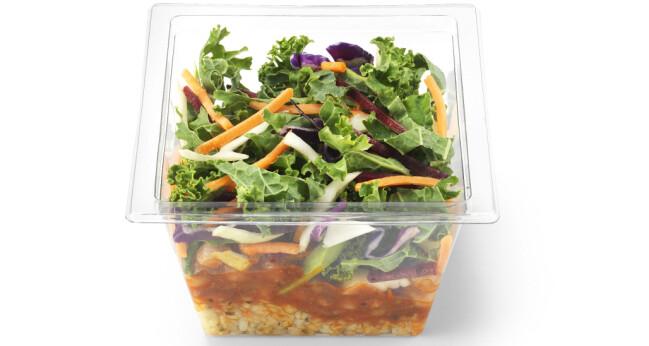 VEGETARSALAT: Hos Circle K får du flere fristende og gode salater, slik som denne Urban Veggie-salaten.