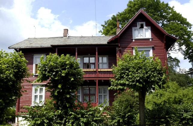 SVEITSERVILLA: Boligen, som blant andre broren til Roald Amundsen har eid, har flere spesielle detaljer som gjør boligen unik. Foto: NTB Scanpix