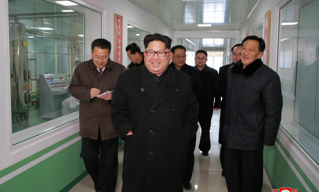 North Korean leader Kim Jong Un gives field guidance at the Pyongyang Pharmaceutical Factory, in this undated photo released by North Korea's Korean Central News Agency (KCNA) in Pyongyang January 25, 2018. KCNA / via REUTERS     ATTENTION EDITORS - THIS PICTURE WAS PROVIDED BY A THIRD PARTY. REUTERS IS UNABLE TO INDEPENDENTLY VERIFY THE AUTHENTICITY, CONTENT, LOCATION OR DATE OF THIS IMAGE. NO THIRD PARTY SALES. NOT FOR USE BY REUTERS THIRD PARTY DISTRIBUTORS. SOUTH KOREA OUT.