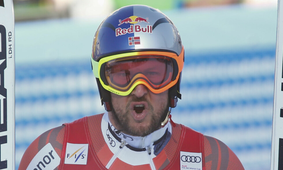 UTENFOR PALLEN: Aksel Lund Svindal kom på fjerdeplass i utfor i Garmisch-Partenkirchen. Foto: Giovanni Auletta / AP Photo / NTB Scanpix