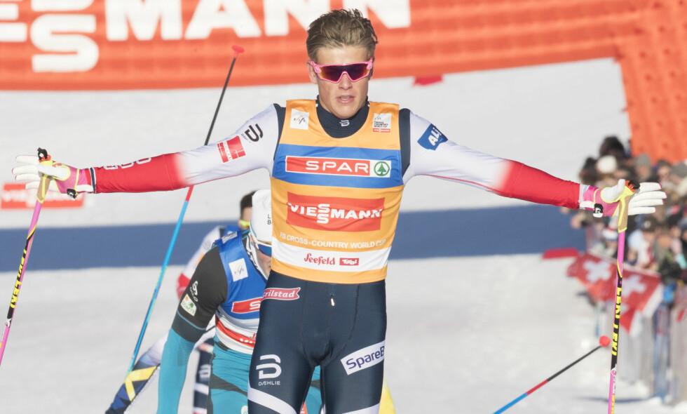 VANT: Johannes Høsflot Klæbo tok nok én sprintseier i østerrikske Seefeld. Foto: Terje Pedersen / NTB scanpix