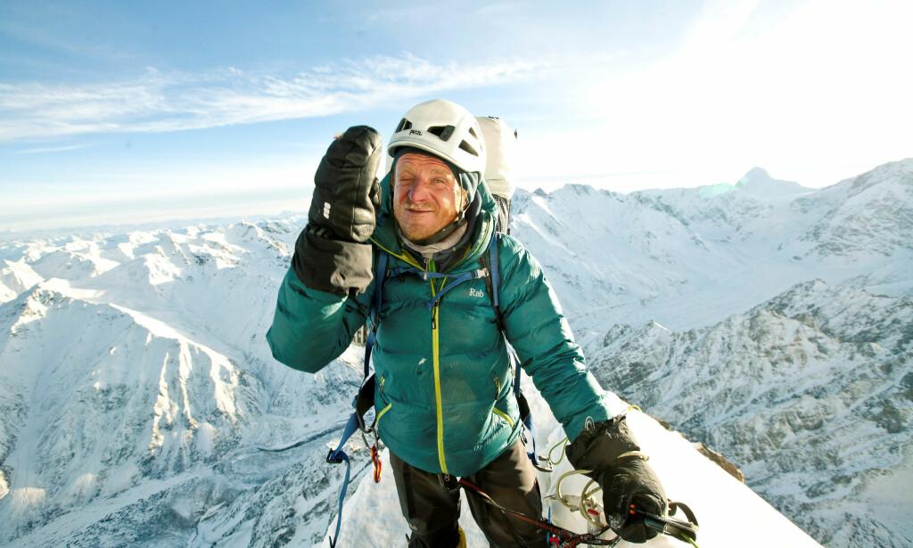 I KRITISK TILSTAND: Polske Tomasz Mackiewicz er i kritisk tilstand med frostskader og snøblindhet. Dette er sjette gang han prøver å bestige «dødsfjellet» i Himalaya. Foto: Michal Obrycki / Reuters / NTB Scanpix