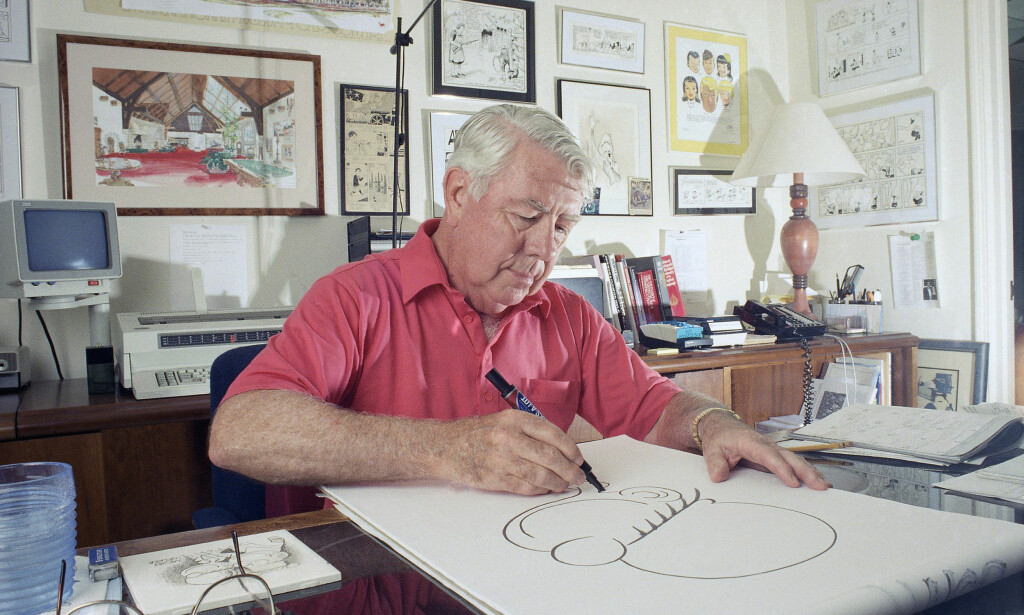 BILLYS FAR: Tegneserieskaper Mort Walker er død, 94 år gammel. Foto: NTB Scanpix