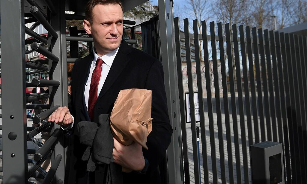 OPPOSISJONSLEDER: Aleksej Navalny og hans støttespillere har varslet flere demonstrasjoner i dag. Foto: AFP PHOTO / FREDERICK FLORIN / NTB Scanpix