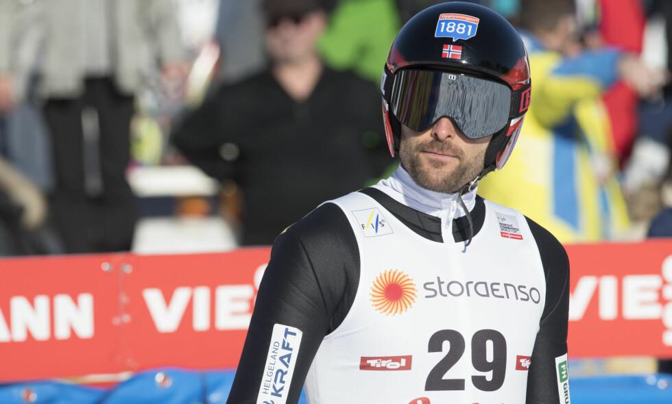 SYK: Magnus Moan hoppet i kombinertrennet i Seefeld i går, men sto over langrennsdelen grunnet sykdom. Foto: Terje Pedersen / NTB scanpix
