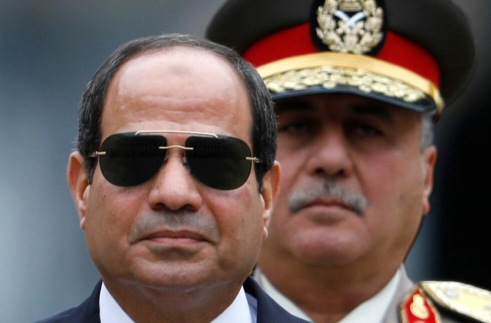 DIKTATOREN I KAIRO: President Abdel Fattah al-Sisi vil ikke ha motkandidater under presidentvalget i mars. Foto: AFP/NTB Scanpix