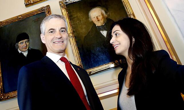 STERK LEDERDUO: Hans Kristian Amundsen mener Jonas Gahr Støre og Hadia Tajik er blant de sterkeste lederduoene Arbeiderpartiet har hatt i moderne tid. Foto: Jacques Hvistendahl / Dagbladet