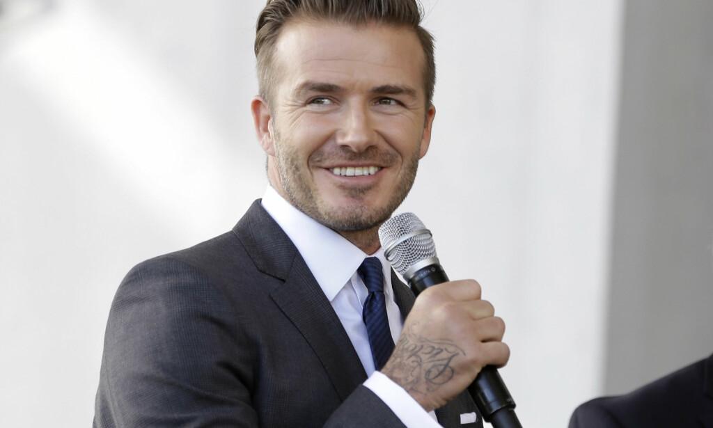 SETTER ENDELIG PLANENE TIL LIVS: David Beckham presenterer trolig en ny MLS-klubb med base i Miami. Foto: AP Photo/Lynne Sladky