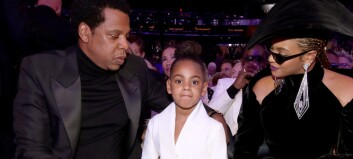 Stjerneparet klappet på Grammys. Det ville ikke Blue Ivy (6) ha noe av