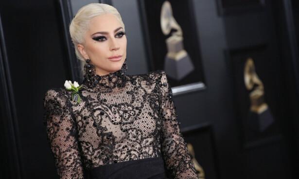 LADY GAGA: «Born This Way»-sangeren var en av stjernene som viste sin støtte ovenfor #MeToo og Time's Up-bevegelsen under Grammys 2018. FOTO: Scanpix