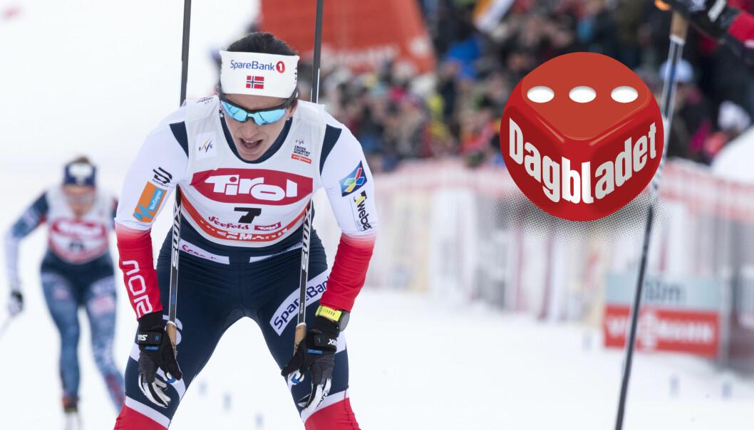 SKUFFET: Marit Bjørgen ble nummer fem på 15 kilometeren søndag. Likevel trenger man ikke bekymre seg nevneverdig inn mot OL, skal vi tro Bjørgen selv. Foto: Scanpix