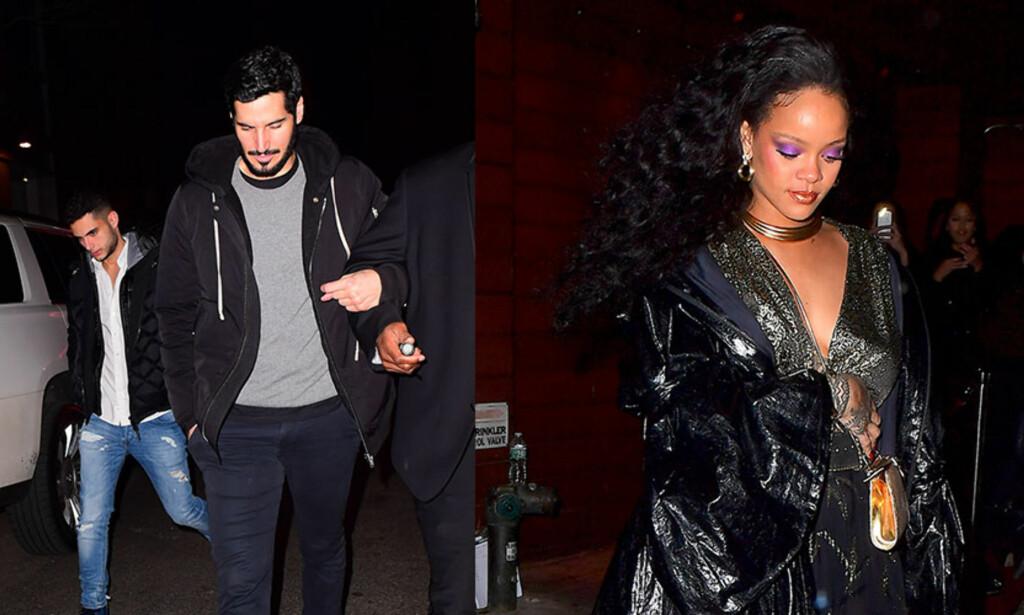 ROMANSE: Rihanna ble observert sammen med sin «hemmelige» kjæreste på etterfesten til Grammy-utdelingen natt til mandag. Foto: NTB Scanpix