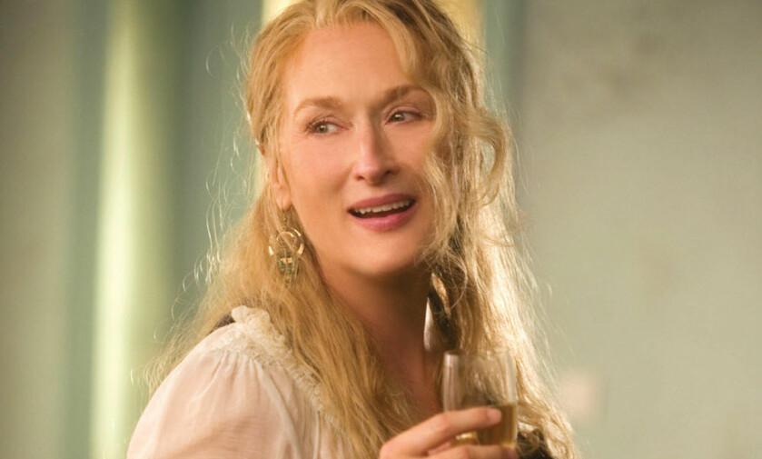 SYNGENDE: Kanskje lite sannsynlig at hun begynner å synge, men Mamma Mia! er såpass ikonisk at den må med likevel. Foto: NTB Scanpix