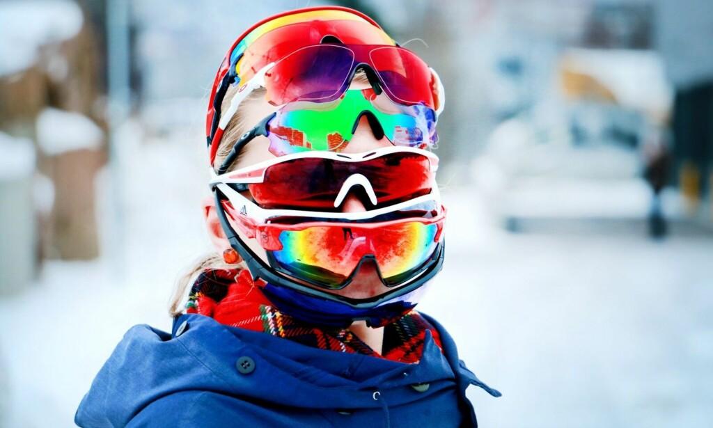 BRILLEBONANZA: Dinside har testet sju sportsbriller fra 400 til 1.300 kroner. De dyreste brillene skuffer, mens testvinnerne finner vi blant mellomklassemodellene. Foto: Ole Petter Baugerød Stokke.