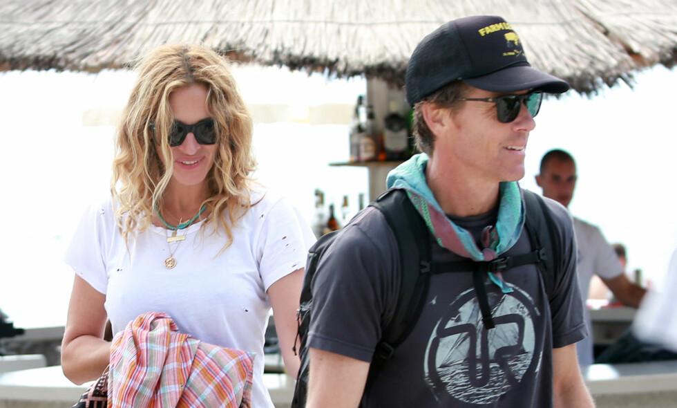 VIL UNNGÅ SKILSMISSE: Julia Roberts skal ha kjøpt en egen surfestrand til ektemannen Danny Moder for å unngå en skilsmisse. Foto: NTB Scanpix.