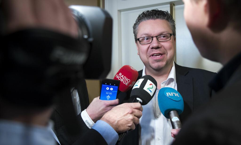 TRAKK SEG: Ulf Leirstein trakk seg fra seg vervene som justispolitisk talsperson og nestleder i gruppestyret for tre uker siden. Foto: Heiko Junge / NTB scanpix