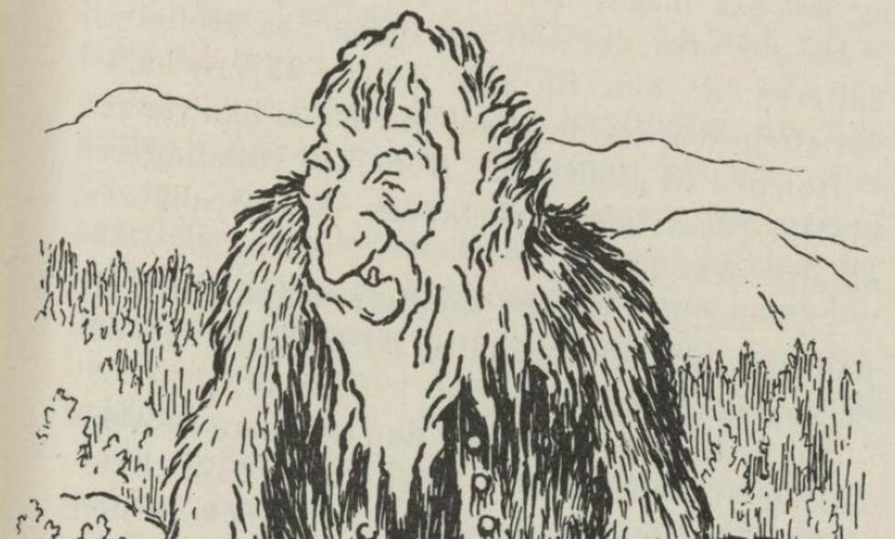 FANTASIFOSTER: - Monstre er fantasifostre om ikke-menneskelige skikkelser som kommer utenfra og typisk spiser og lemlester oss på det mest bestialske vis. I strafferetten sluttet man for alvor å se for seg gjerningsmenn som monstre da opplysningstiden slo inn i dette landet langt mot nord, skriver artikkelforfatteren. Tegning: Wikicommons