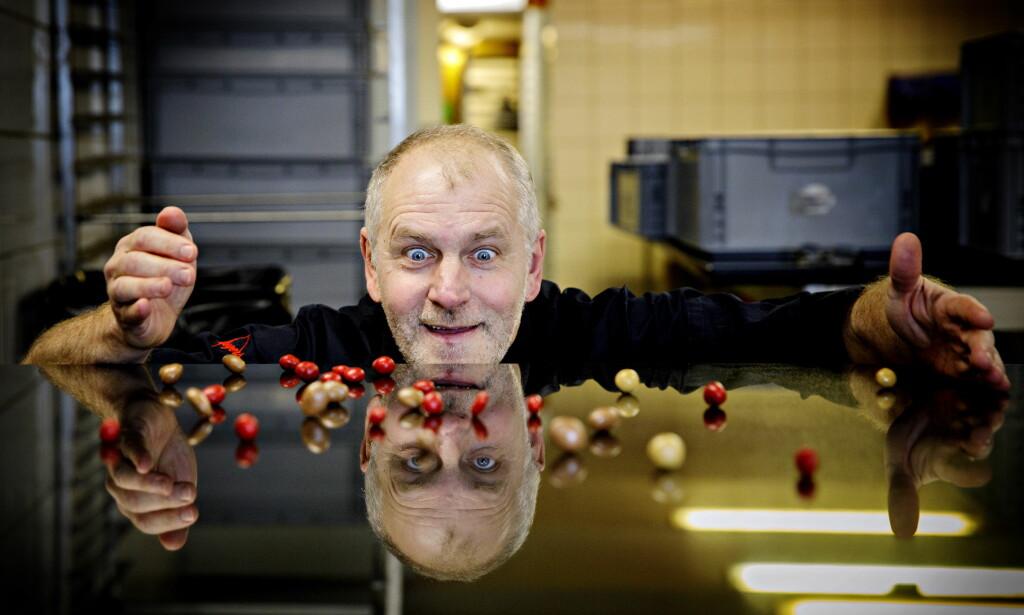 I BEVEGELSE: Konditor Pascal hviler ikke på sine laurbær. Denne uka lanseres sjokoladeperler; sjokoladetrukne nøtter, bær og mandler.