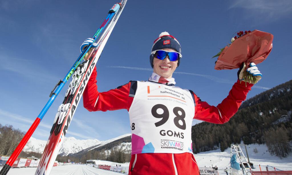 TOK GULLET: Jon Rolf Skamo Hope tok gull på 10 kilometer i VM for juniorer. Foto: Ørjan Ellingvåg / NTB scanpix